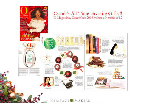 Oprah Loves Her Heritage Makers Book
